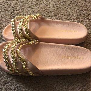 Liliana Shoes - Pink slides